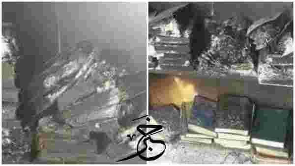 مشرف حوثي يحرق مسجدا في ذمار ،بسبب رفض المصلين أداء الصرخة